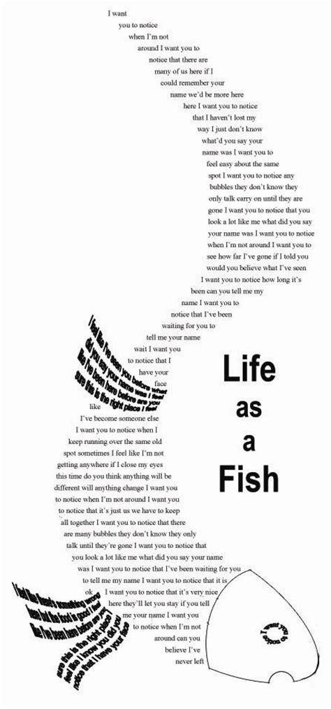 i am following my fish: mysfit's fish poem - as big as it gets