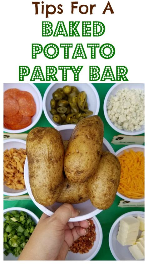 baked potato bar toppings ideas easy party idea baked potato bar with toppings along with