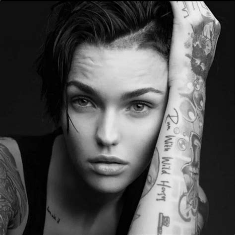 ruby rose neck tattoo ruby
