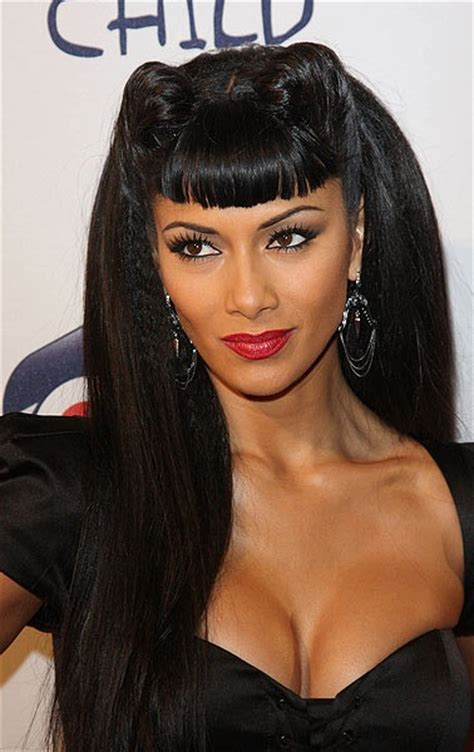 Pin Up Hairstyles With Bangs by Scherzinger Hairstyles Careforhair Co Uk