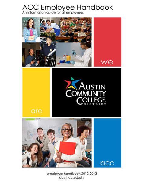 employee handbook cover page template acc employee handbook