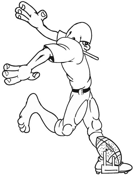 coloring pages with football free printable football coloring pages for kids best