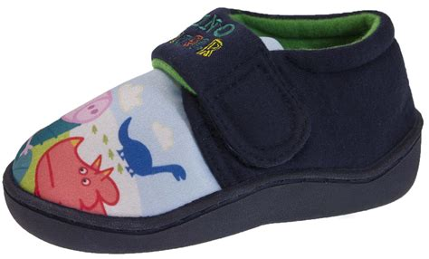 toddler character slippers boys peppa pig george novelty slippers fleece