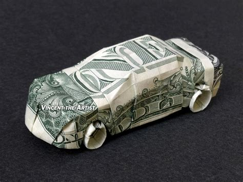 Origami Car - money origami many designs to choose from unique