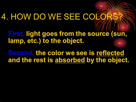 what do the different colors of visible light represent visible light and color presentation physics sliderbase
