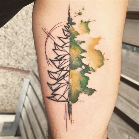 watercolor tattoo york pa watercolor and geometric tree by grey at