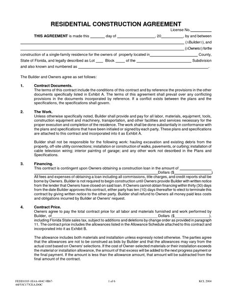 interior design contract agreement free printable