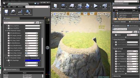 tutorial c ue4 ue4 landscape material tutorial pt4 youtube