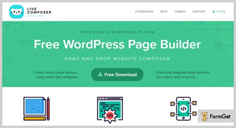 page builder for wordpress 100 free plugin livecomposer 7 best page builder wordpress plugins free and paid