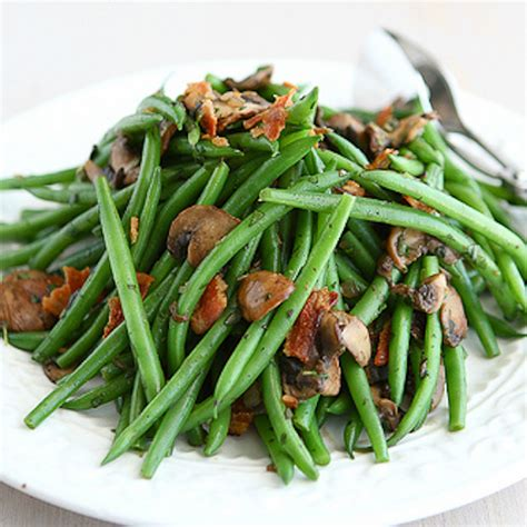 carbohydrates green beans low carb green beans with bacon and mushrooms
