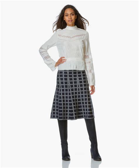 Celana Flare Skirt A Line Midi Rok Midi Korea Bawahan Skirt Kulot derek lam 10 crosby flare midi skirt navy multi