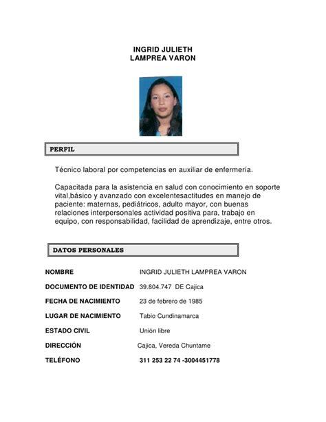 Modelo De Hoja De Vida O Curriculum Formato Hoja De Vida Para Llenar Newhairstylesformen2014