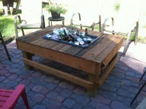 Build Your Own Patio Table by Tables With Built In Cooler Planter The Owner Builder