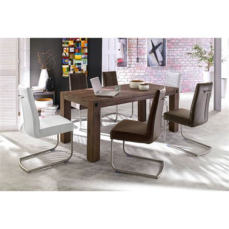 Dining Room Furniture Stores Leeds Leeds Solid Wood 6 Seater Dining Table With Flair Chairs