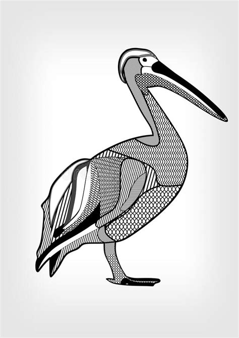 black pelican tattoo pelican black and white drawing of water bird with