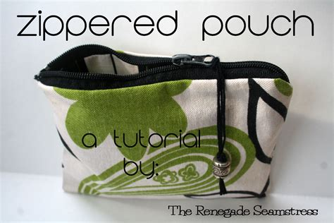 easy zippered pouch pattern easy zippered pouch tutorial the renegade seamstress