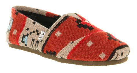 mens toms toms classic sand knit casual shoes