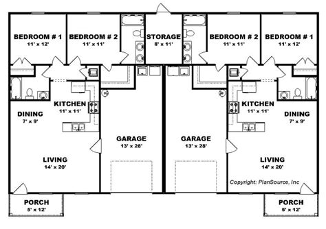 Duplex With Garage Plans by The 25 Best Duplex Floor Plans Ideas On