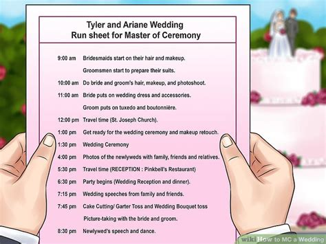 wedding mc layout wedding mc checklist template images template design ideas