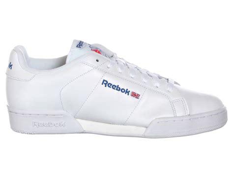 reebok classic sneakers reebok classic shoes npc ii white white blue mens size new