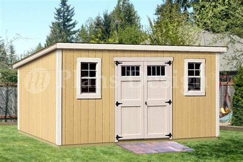 Modern Storage Shed Plans by 8 X 16 Classic Deluxe Modern Storage Shed Plans Design