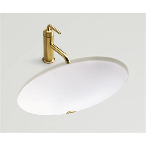 under mount bathroom sink shop kohler vintage honed white undermount oval bathroom