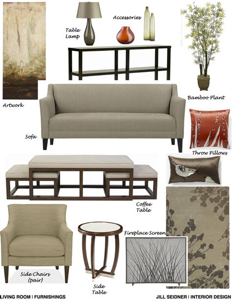 living room furnishings concept board jill seidner belmont shores ca residence living room furnishings