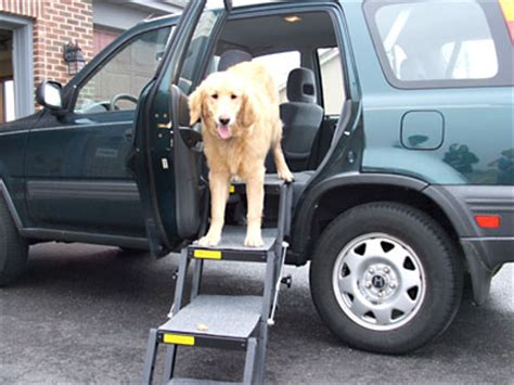 stairs for car tripawds gear 187 pet loader car steps assist three legged dogs in truck suv