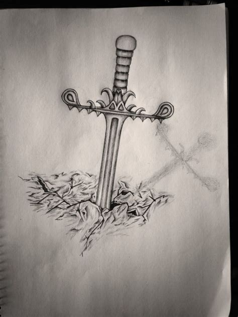 stone tattoo designs sword in design designs