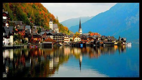 charming austrian village  hallstatt  modern era