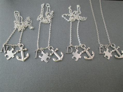 items similar to 4 best friends necklaces puzzle