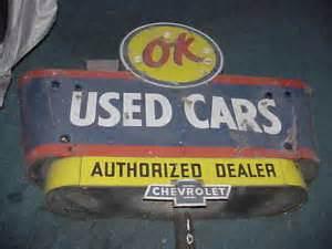 Vintage Chevrolet Signs Vintage Chevrolet Porcelain Neon Sided Sign