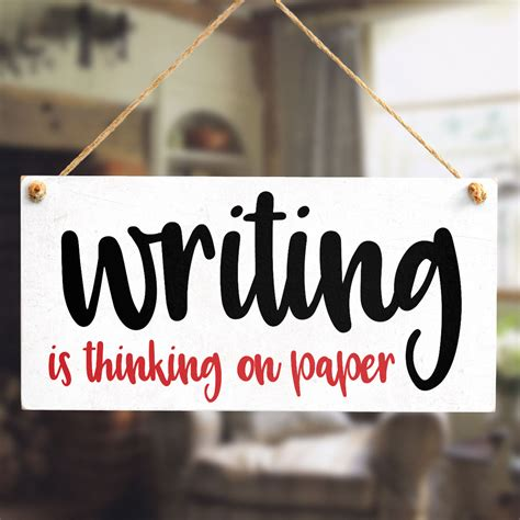 writing is thinking on paper writing is thinking on paper writers gifts