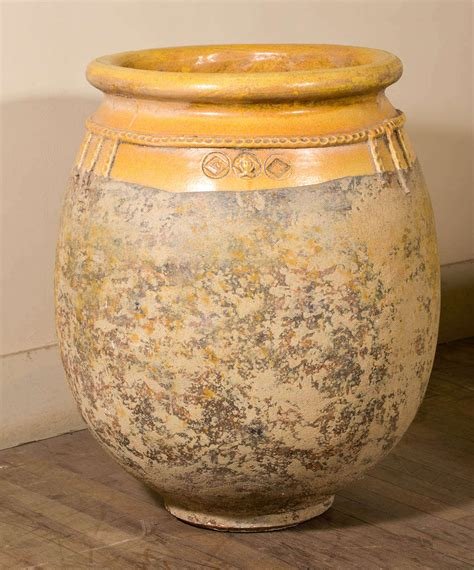 a pair of large glazed terracotta pots for sale antiques pair of large glazed terracotta jars at 1stdibs