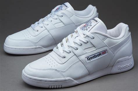 Sepatu Merk Reebok sepatu sneakers reebok workout plus white black