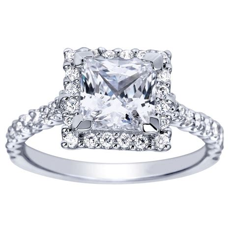 princess cut halo engagement ring setting 77 gerry the