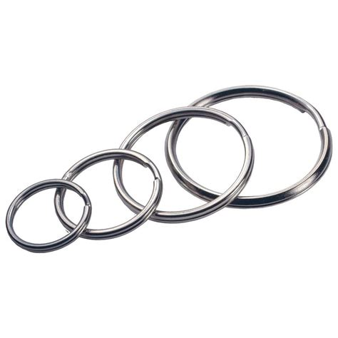 the hillman split ring key ring 4 pack 701288