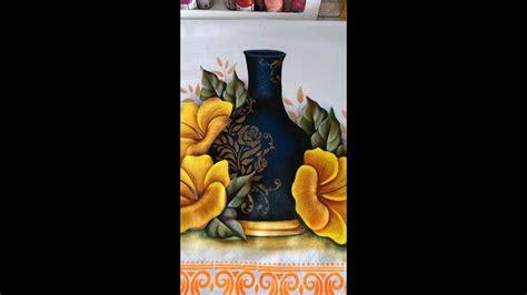 come dipingere i fiori como pintar hibiscos amarelos how to paint flowers