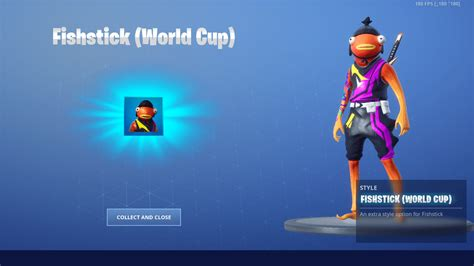 fortnite skin fishstick world cup style