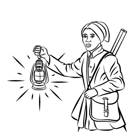 Harriet Tubman Coloring Pages harriet tubman free colouring page links resources amazing of history