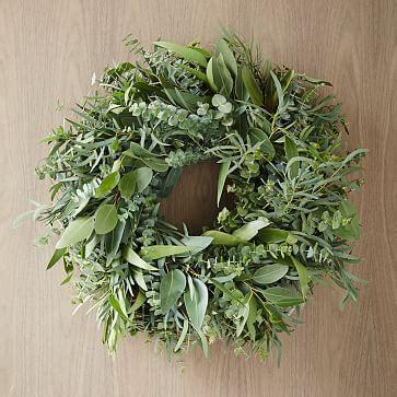 mixed eucalyptus wreath west elm