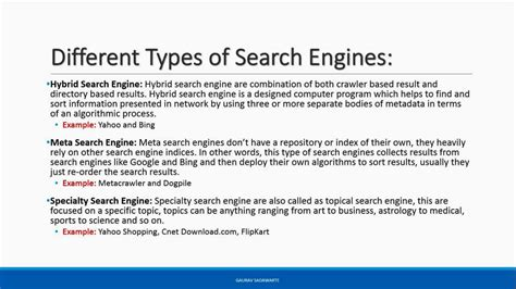 Types Of Search Engines Searchuh Seo Tutorial How Search Engine Works Different Types Of Search Engine