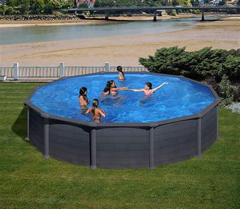 piscina esterna da giardino piscina esterna da giardino gre granada in acciaio effetto