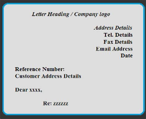 exle of business letter with heading free letter format exles and sles
