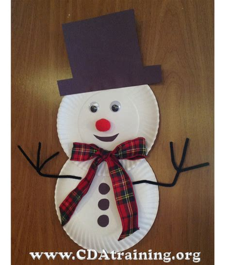 How To Make A Paper Plate Snowman - child care basics resource paper plate snowman