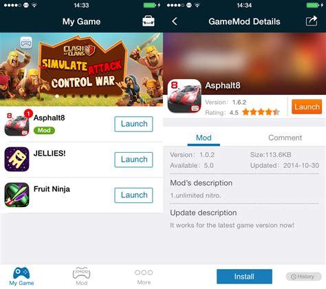 game mod tweaks ios 8 trucchi cheat hack e mod per tantissimi giochi iphone