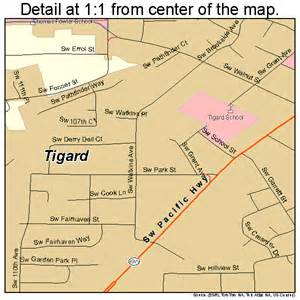 tigard oregon map 4173650