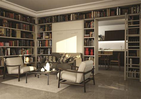 libreria con letto a scomparsa letto a vagone archivi letto contenitore