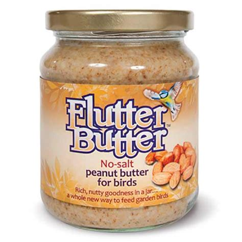 flutter peanut butter for birds