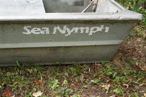 sea nymph aluminum jon boats auctions international auction genesee county fish